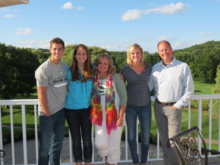 Mike, his wife Betsy, and their 3 kids