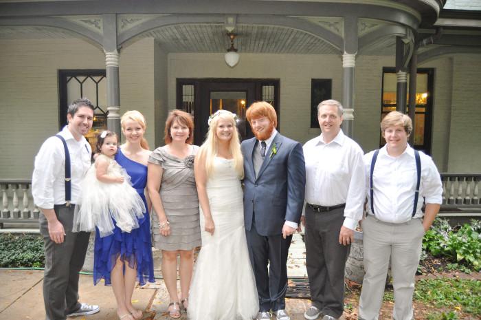 wedding family pic