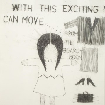 Living-Post-Oka-Kind-of-Woman (panel 7), 1990 graphite on paper 101.6 x 71.2 cm Collection of the MacKenzie Art Gallery
