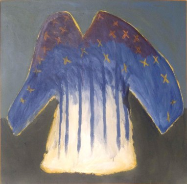 Shirt for the Morning Star, 1983 acrylic on canvas 104.5 x 106.9 cm Collection of Gary Von Kuster
