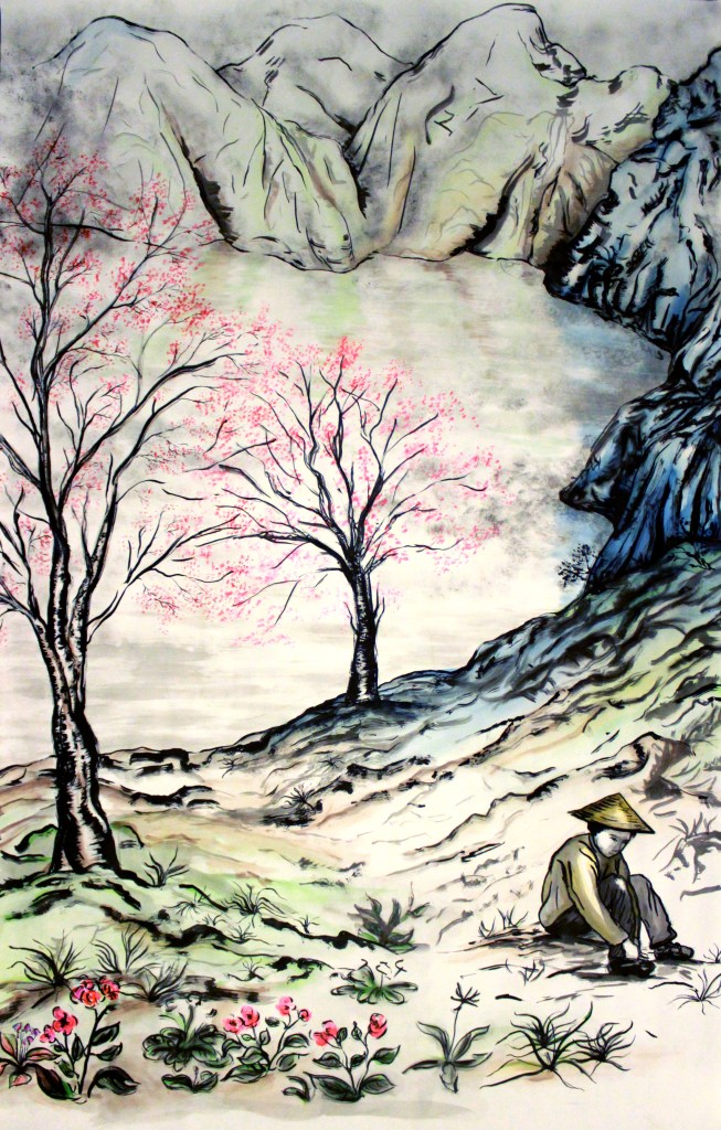 Chinese Landscape - Art by Ruth Helen Smith