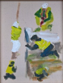 Workmen sketch 5 - Art by Ruth Helen Smith