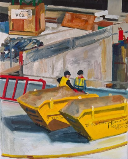 Two Skips - Painting by Ruth Helen Smith