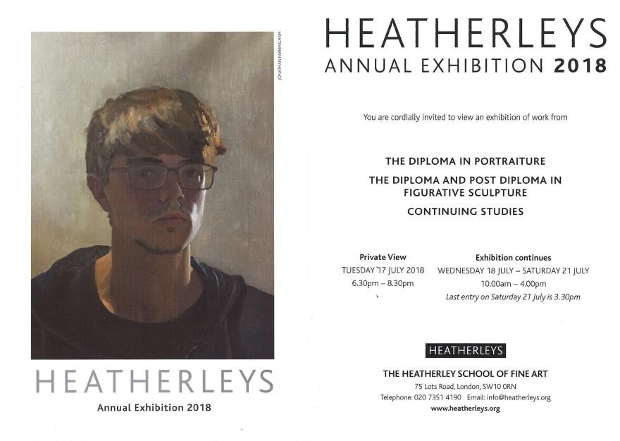 Heatherley's Summer Exhibition 2018 Flyer