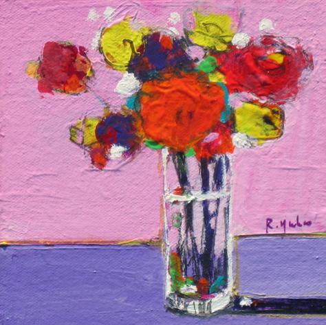 Flowers on Purple Table