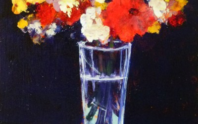 Deconstructed Flower Painting