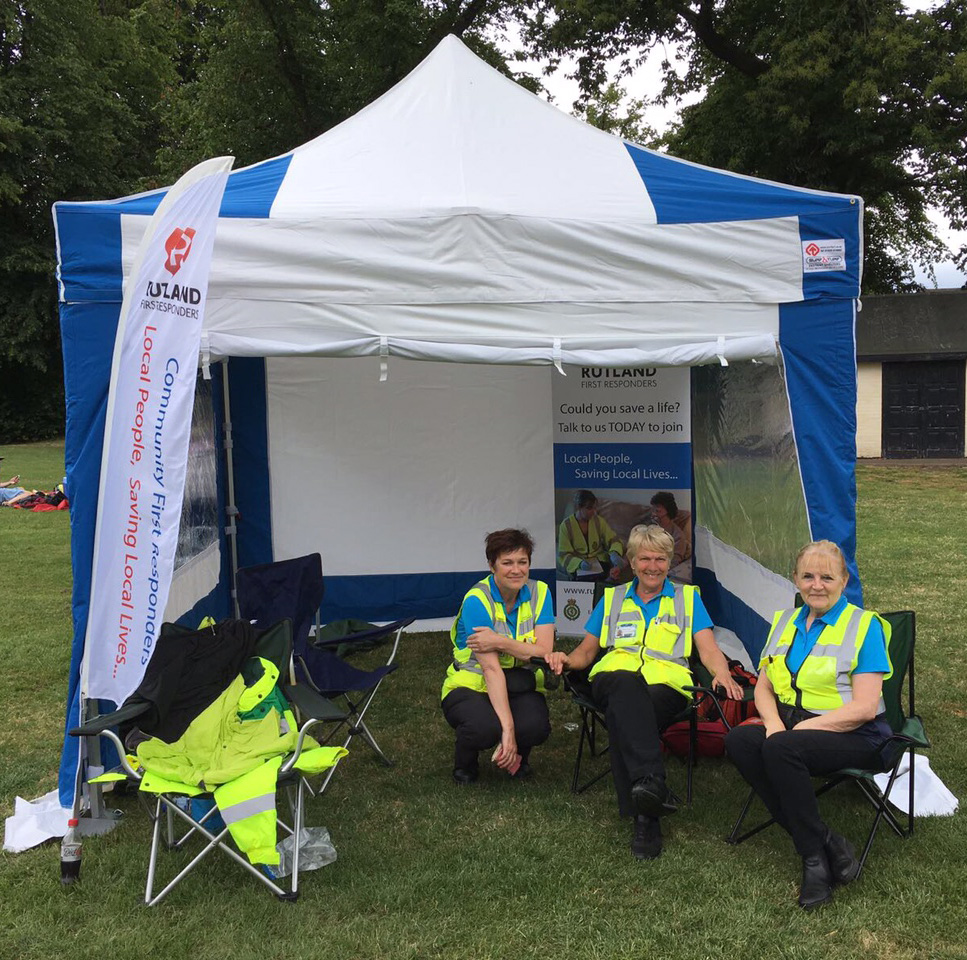 Rutland First Responders Helping out at an event