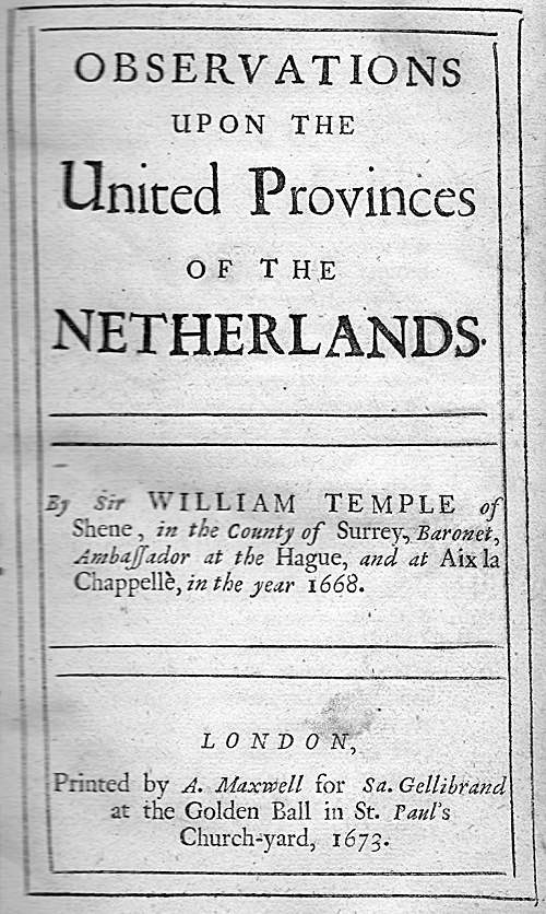 Observations upon the United Provinces of the Netherlands.