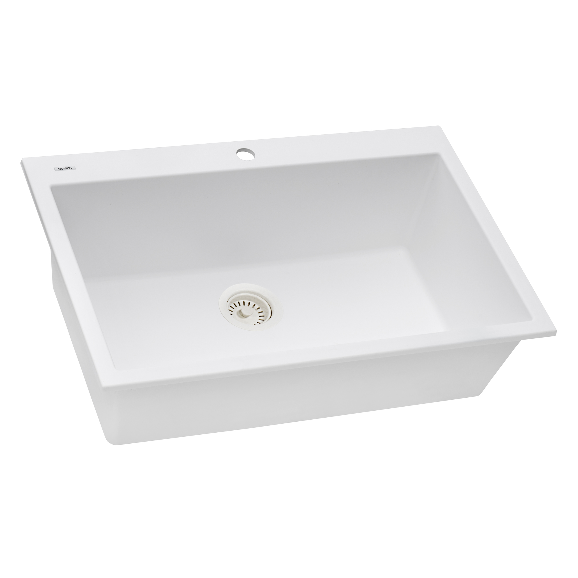 Ruvati 30 X 20 Inch Epigranite Drop In Topmount Granite Composite Single Bowl Kitchen Sink Arctic White Rvg1030wh Ruvati Usa
