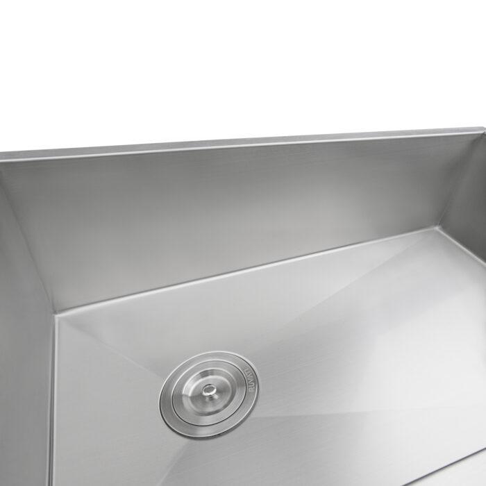 https www ruvati com products 27 inch slope bottom offset drain undermount kitchen sink single bowl stainless steel rvh7470