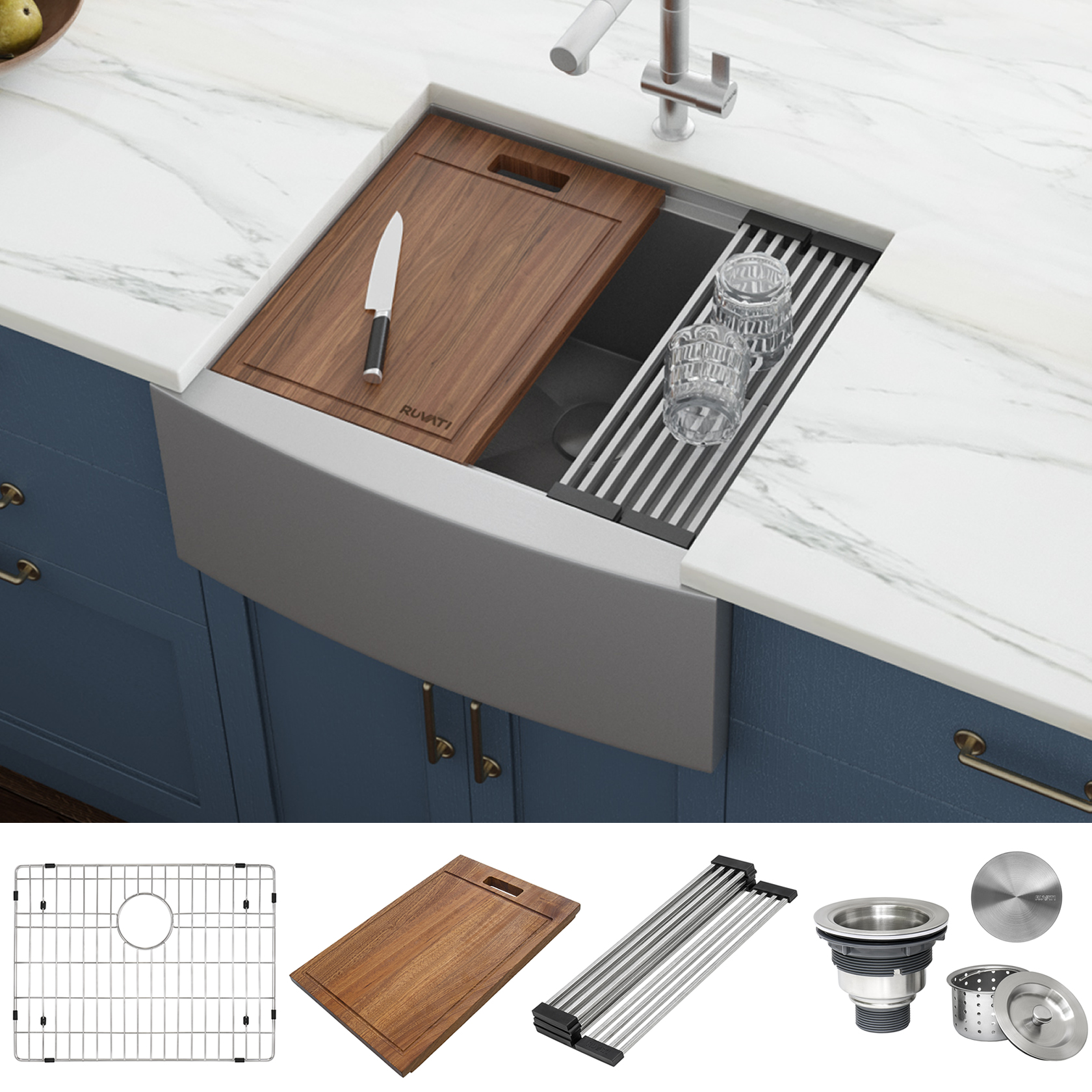 24 inch apron front workstation