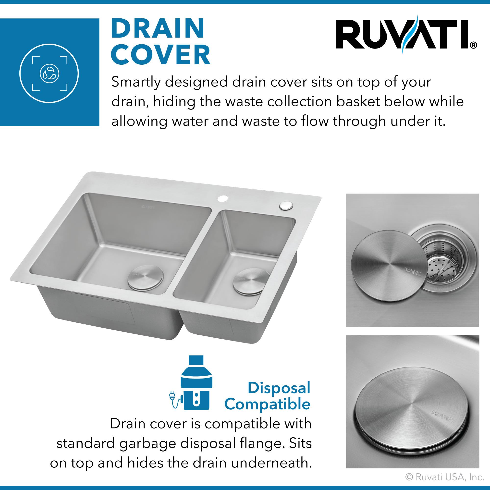 Rvm5173 Ruvati 33 X 22 Inch Drop In Topmount Kitchen Sink 16 Gauge Stainless Steel 70 30 Double Bowl Kitchen Bath Fixtures Kitchen Fixtures