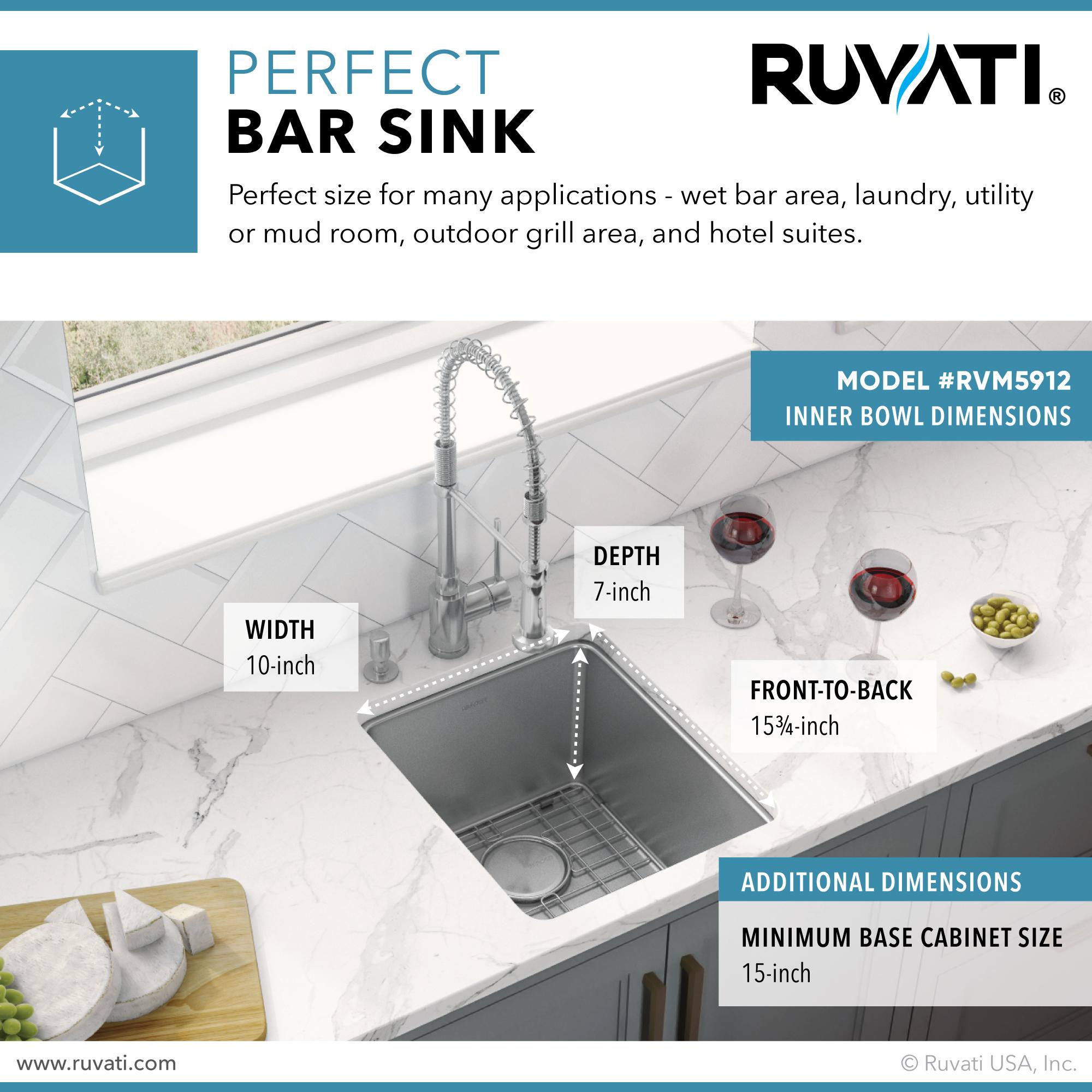 12 inch undermount bar prep kitchen