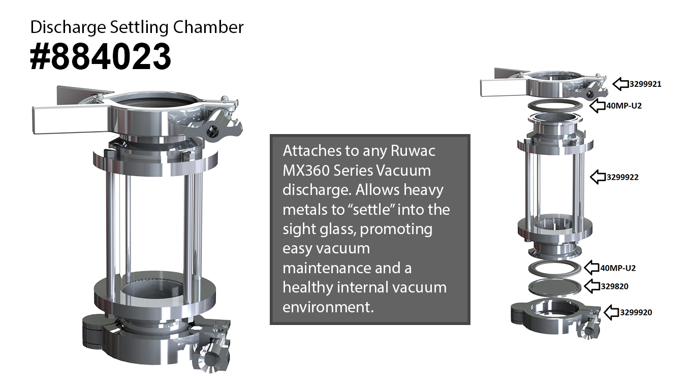 Discharge Settling Chamber Reduces Vacuum Maintenance