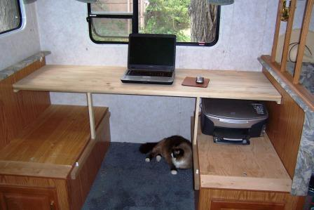 Creating an RV Desk out of an RV Dinette