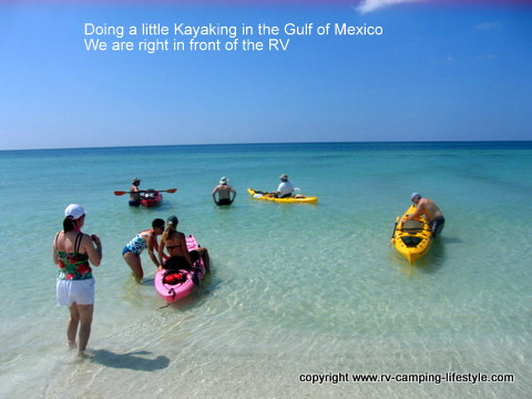 pensacola beach,rv,boondocking,camping,kayaking