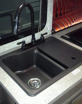 rv kitchen sink double doors 19 x 25 classic black granite american stonecast products inc 1925