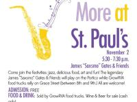 "First Friday Jazz with James ""Saxsmo"" Gates & Friends at St. Paul's on November 2, 2012"
