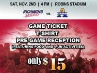 Discounts: Richmond Spiders Football vs. Albany on November 2, 2013