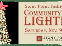 Community Tree Lighting at Stony Point Fashion Park on November 9, 2013