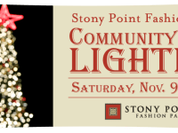 Community Tree Lighting at Stony Point Fashion Park on November 9, 2013