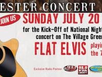 FREE Flat Elvis concert to kick off National Night Out