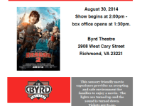 Sensory friendly movie for special needs kids August 30