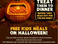 FREE kids meal at Outback on Halloween