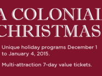 Special Event Ticket to Colonial Williamsburg Celebration