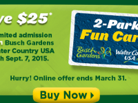 Purchase Busch Gardens Ticket and Get Water Country FREE
