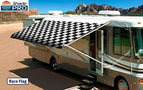 Shade Pro RV Vinyl Awning Replacement Fabric - Checkered ...