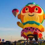 Decolagem do balão de formato especial Monkey King foto by Anderson Batista