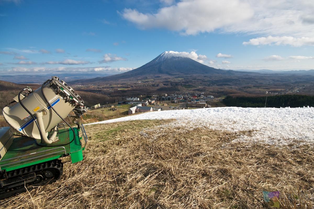 Niseko Hirafu early November with no snow - Snow Machine & Mt Yotei