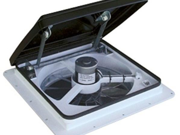 Maxxair 0004500k Maxxfan Smoke Standard Remote Fan Lid Rv Electrical System
