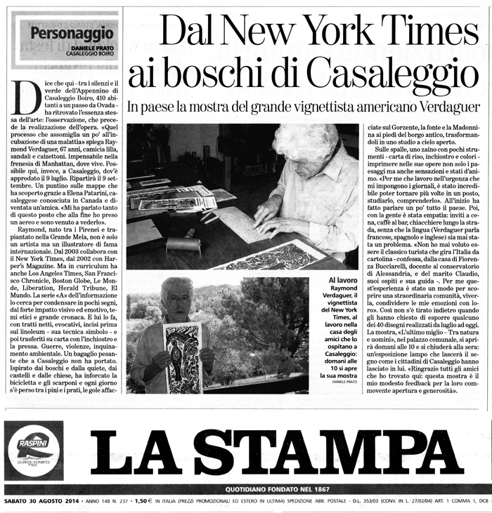 Interview, La Sampa newspaper, italy