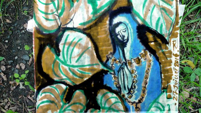 ink painting - Vierge de la Fonte # 20
