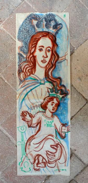pittura -Madonna col Bambino . tav. 34