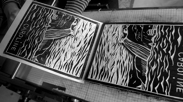 Wood cut, Nov. 2014 workshop #27