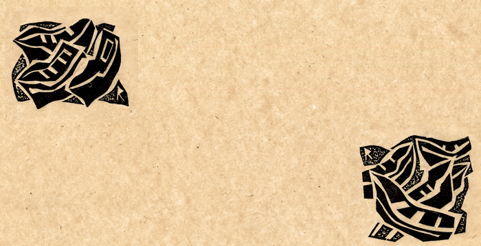 Linoleum dimensions, 7x7 cm
