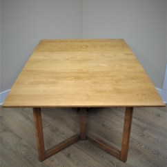 Kitchen Table With Leaf Insert Area Rugs For Under Tables Conant Ball Modernmates Dining Vintage Solid Maple
