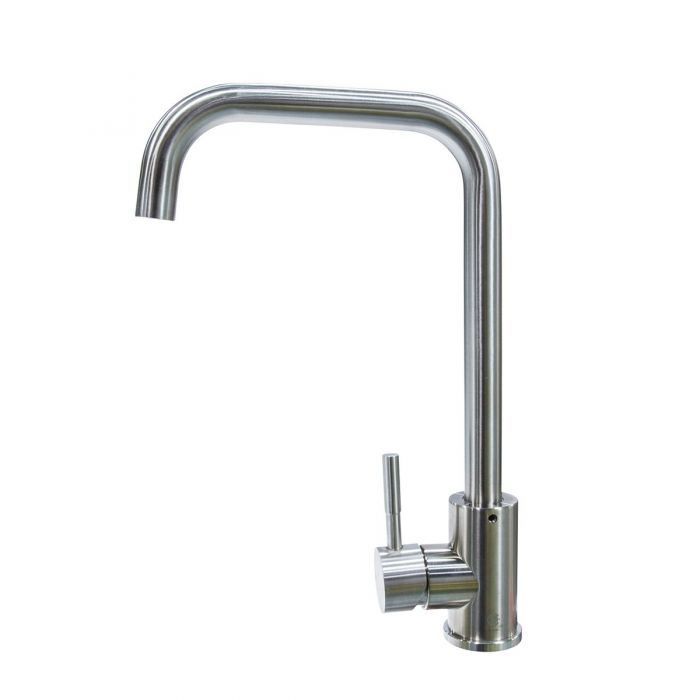rv kitchen faucet metal single lever square spout brushed nickel