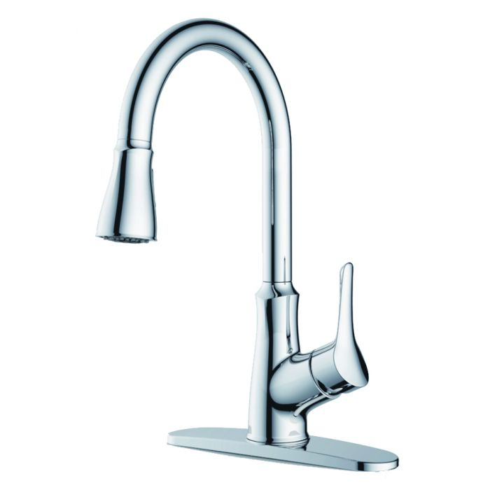 chrome rv mobile home metal kitchen faucet sink faucet with single lever pull down sprayer 3 or 1 hole sink