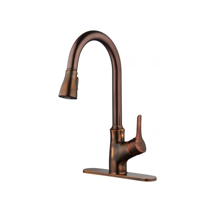 oil rub bronze finish rv mobile home metal kitchen faucet sink faucet with single lever pull down sprayer 3 or 1 hole sink