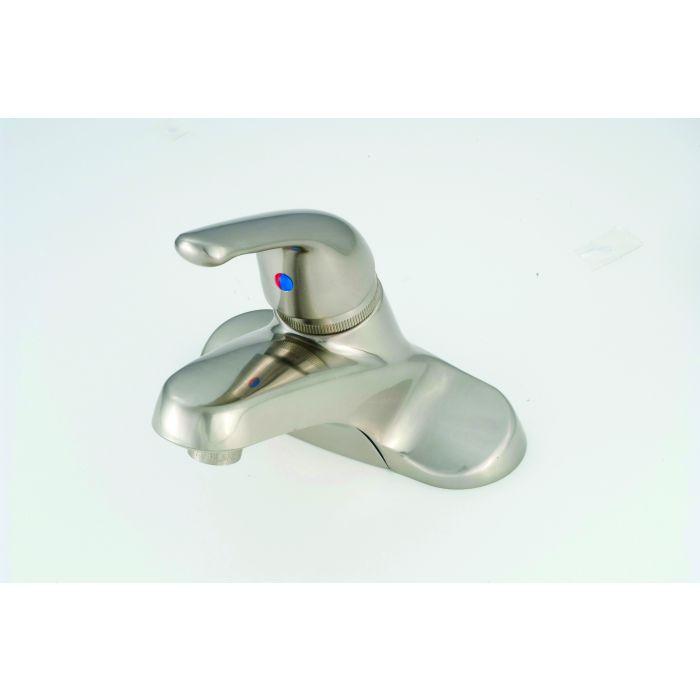 brushed nickel rv metal single lever bathroom faucet
