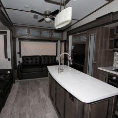 Two Person Kitchen Table Narrow Base Cabinet New 2019 Keystone Montana 3854br Fifth Wheel - Smithville ...