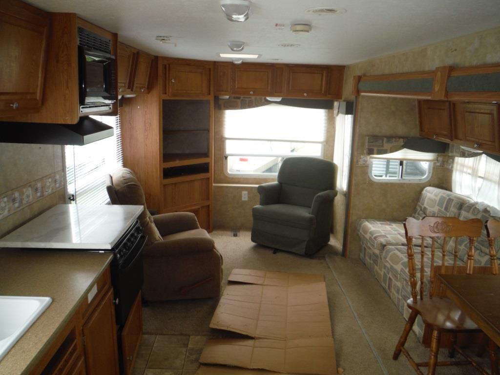 living room on sale toy box used 2007 jayco jay feather 31v travel trailer - 536880 ...