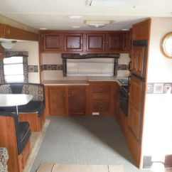 Travel Trailers With Rear Kitchen Make Cabinets Used 2007 Skyline Nomad 2900 Trailer - 539548 ...