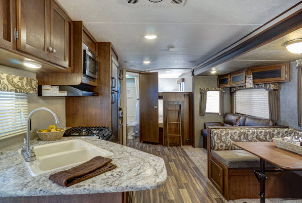 front kitchen travel trailer microfiber towels the top 5 best trailers rvingplanet blog