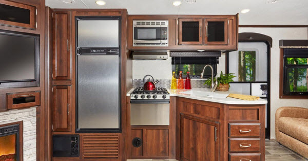 front kitchen travel trailer islands with seating and storage the top 5 best trailers rvingplanet blog