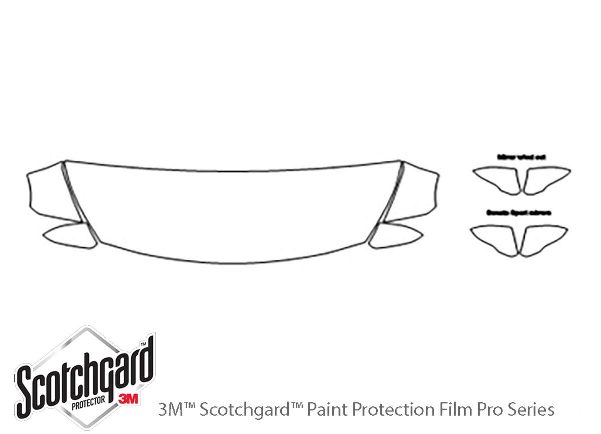 3M™ Hyundai Sonata 2015-2017 Hood Paint Protection Kit